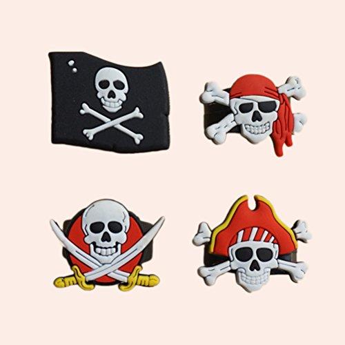 Stobok 24 piezas de nios pirata fiesta supllies juguete pirata anillos fiesta de cumpleaos favores calavera Crossbone juguete anillos para nios