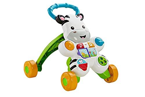 Fisher-Price Zebra Primi Passi Spingibile, Giocattolo Elettronico Educativo con Musica e Suoni, per Camminare, per Bambini di 6 + Mesi, HBB66