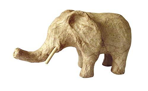 décopatch Mache Small Elephant, 12.3 x 5.8 x 6.8 cm, Brown