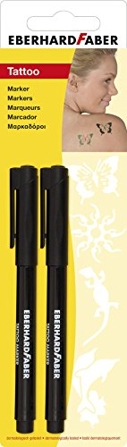 Eberhard Faber 559596- Set de 2 rotuladores para tatuajes, color negro