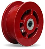 Double Flanged Track Wheel 6' Diameter x 2-1/8' Face x 3-1/4' Hub Length with 1' Roller Bearing