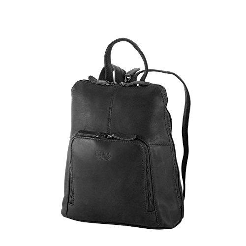 """Rada Nature """"Harlem"""" Damenrucksack – echt Leder Rucksack, Schultertasche, Elegante Umhängetasche für Mädchen und Damen, große Multifunktionstache mit Schulterriemen, Handtasche, 11 Fächer"""