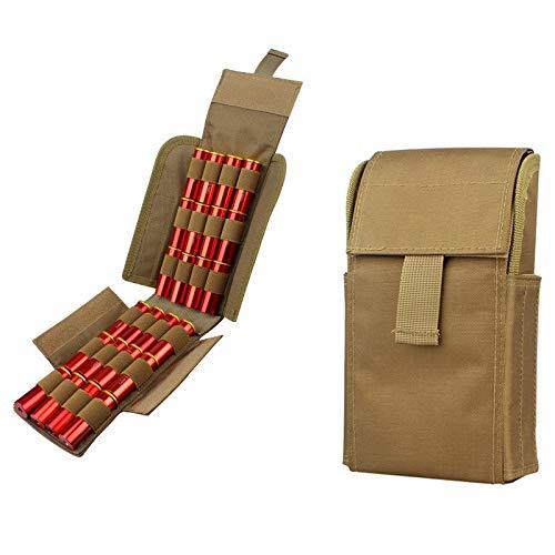Gexgune Hunting 25 Ronda 12GA Calibre 12GA Conchas de munición Volver a Cargar la Revista Bolsas de Almacenamiento Bolsa Bandolier Porta Balas Tactical Airsoft Kit (4 Colores Opcional)