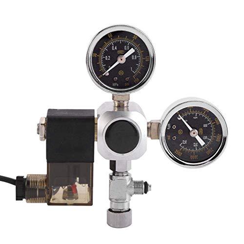 OKBY Riduttore di Pressione Co2 - Pressione della Bombola E Display della Pressione di Uscita per Sistema Acquario con 2 Manometri, Tecnologia di Tenuta Senza Perdite