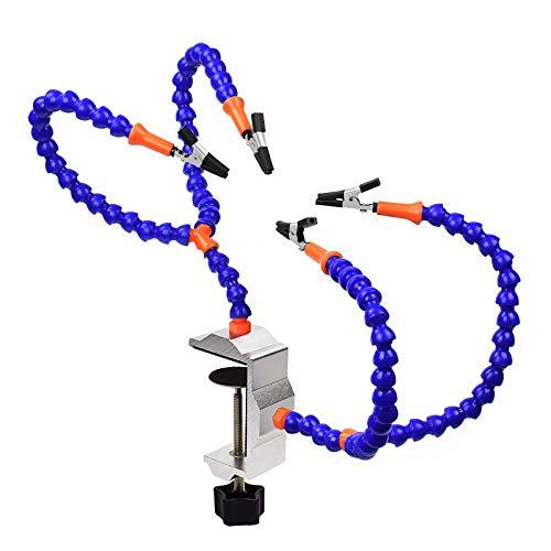 Helfende Hände Löten von Schraubstock-Leiterplattenhaltern aus dritter Hand mit 4 Armen und verstellbarer Schraubstock-Tischklemmbasis zum Löten, Modellieren, Zusammenbauen, Reparieren, Hobby, Basteln
