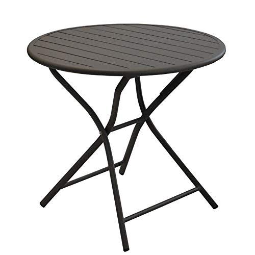 Rendez vous déco Table de Jardin Globe Pliante café 80 cm