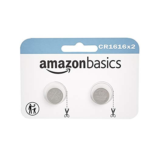 Amazon Basics 2 Pack CR1616 3 Volt Lithium Coin Cell Battery