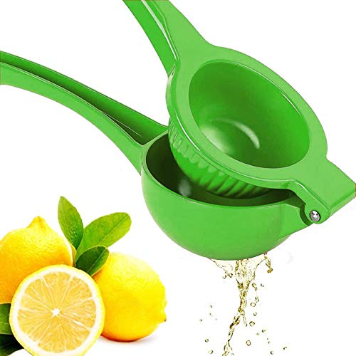 Premium Quality Metal Lemon Squeezer, Lime Juice Press, Manual Press Citrus Juicer For Squeeze The Freshest Juice - (Green)
