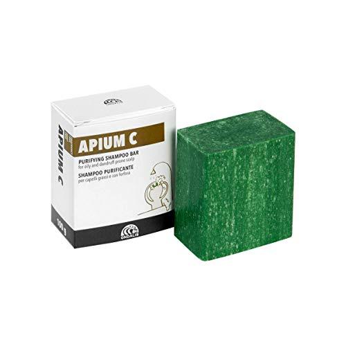 Ondalis Apium C - Champú Sólido Natural – Cabellos Grasos y con Caspa - Purificante y calmante – Sin perfume y sin conservantes - 100gr
