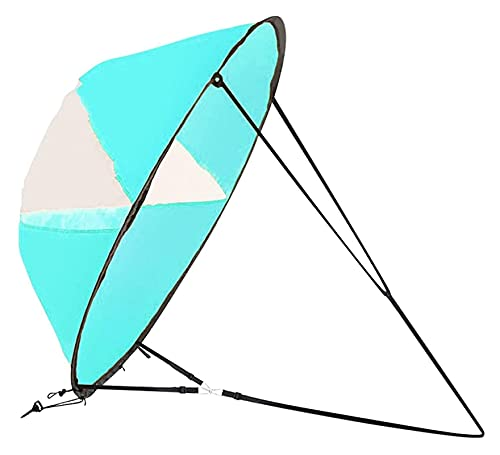 ZOBOLA 42'Kit de Vela de Viento de Viento a Baja del Viento Kayak Wind Sail Paddle Paddle Board Remo Popup Instantáneo Easy Setup Windsurfing con Ventana Clara para canoas de Kayaks inflables tándems