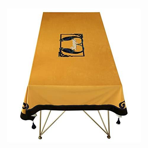 Tafelkleed Stof Country Coffee Table Doek Simple Ins Europese Retro Tafel Doek Luxe kwast hanger tafelkleed (Color : A, Size : 140 * 200cm)