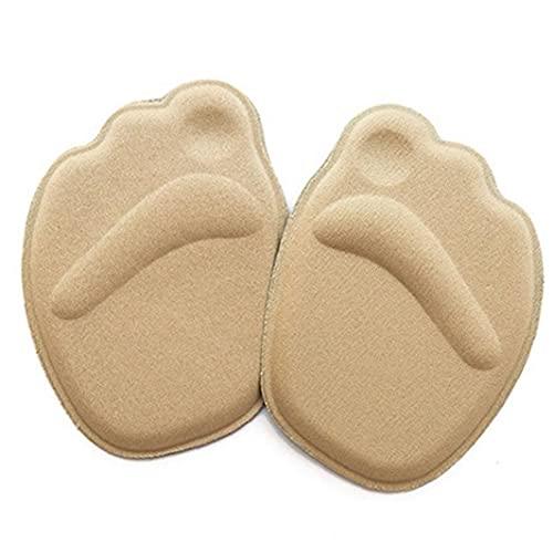 Ruluti 1 Paire Sole Haut du Pied Coussins Forefoot Anti-dérapant Semelle Intérieure Respirante Chaussures Femmes Protection des Pieds Soft Pad Insert Beige Soins des Pieds