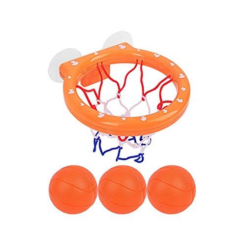 Goldyqin Baby Bad Spielzeug Basketball Hoop 3 Bälle Spielgeräte für Kleinkinder mit Saugnapf Badewanne Shooting Ball Spiel