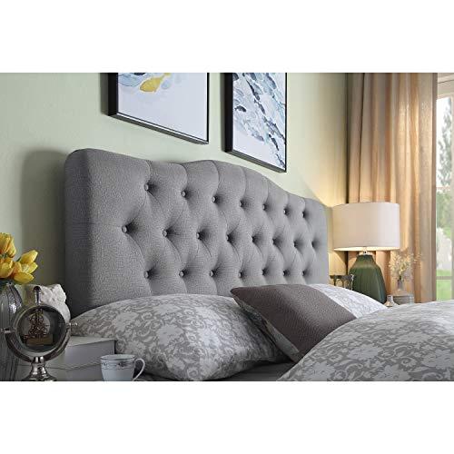 Rosevera Givanna Upholstered Panel Headboard, King, Grey