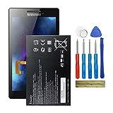 Fruisiy Batería L14D2P31 para Lenovo Tab 2 A10-70 Tab 2 A10-70F + herramientas