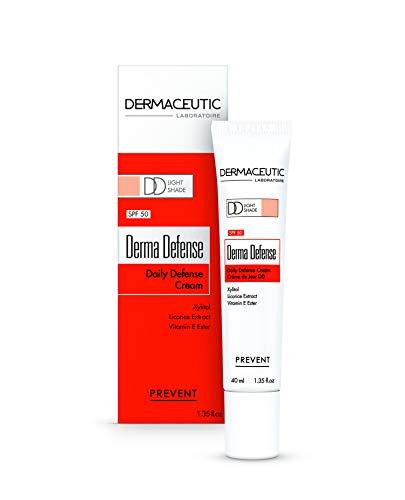 Derma Defense SPF 50 Cream light tint - Crema de día con color - Crema Humectante de Defensa Diaria (DD) para una máxima protección y un mejor cutis - 40 ml