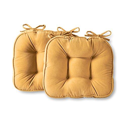 Greendale Home Fashions Hyatt Indoor Microfiber Chair Cushion (Set of 2), Beige