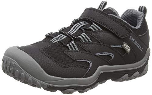 Merrell M- Chameleon 7 Low a/C Waterproof, Chaussures de Randonnée Basses Mixte Enfant, Noir (Black/Grey), 30 EU