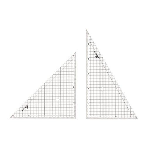 シンワ測定 三角定規 アクリル 方眼目盛付 2枚組 30cm 77062