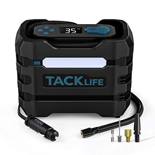 TACKLIFE ACP1B Compresor Aire Coche 150PSI 12V, Compresor de Aire Eléctrico Portátil para Coche, Bicicleta y Otros Inflables