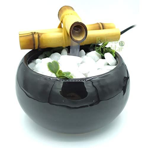 Fonte de Água Redonda em Cerâmica (Preta)