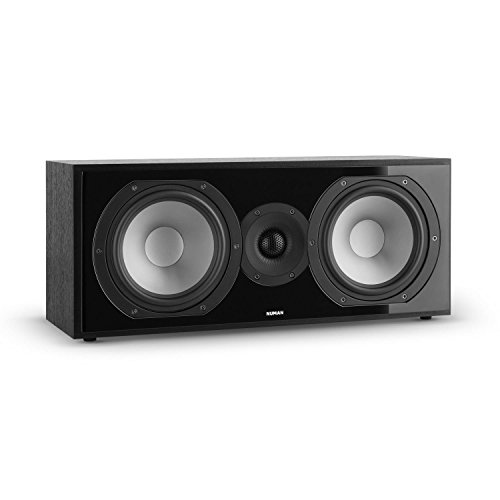 NUMAN Reference 803 - Center Lautsprecher, Center Box, Zwei-Wege Lautsprecher, D'Appolito Anordnung, Aluminium Druckguss Chassis, vergoldete Kontakte, schwarzes Cover, schwarz