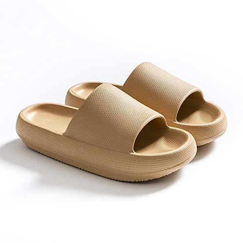 Zapatillas Antideslizantes Para Mujeres,Tacones Altos Ducha Gruesa Suela Suave Flip Flops Sandalias De Playa Verano Niños Niñas Zapatos De Baño Para Hombres Damas Hogar Jardín Baño Sandalias Jun