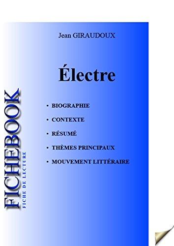 Fiche de lecture Électre (complète) (French Edition)