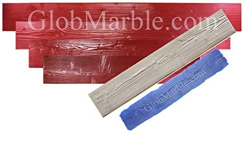 GlobMarble 11' Wood Plank Concrete Stamp Set. Wood Texture Stamp Mat SM 5300 S. 6 Pieces
