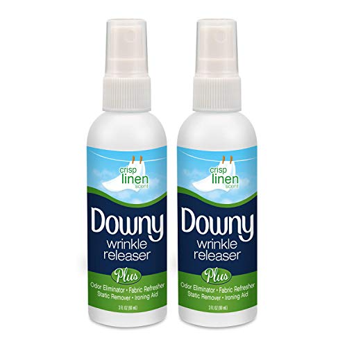 Downy Wrinkle Releaser, Travel Size, Cruise Accessories, Crisp Linen Scent 3 fl oz - 2 Pack