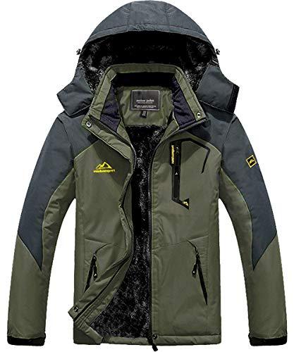 MAGCOMSEN Ski Jacket Men Waterproof Jaket Fleece Snowboard Jacket Soft Shell Jackets Winter Coats for Men Denim Blue