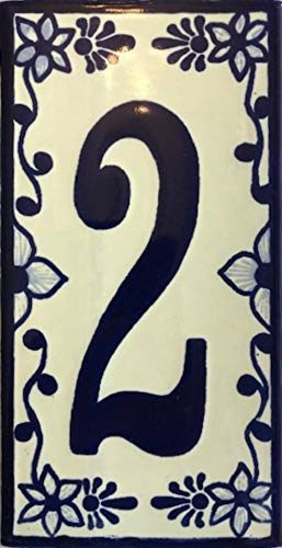 Talavera House Number Handmade (Number Two)