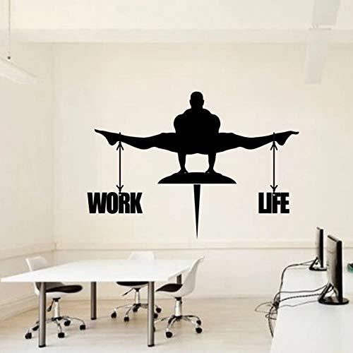 HGFDHG Pegatinas de Pared de Oficina Idea de Equilibrio de Oficina decoración de Pared de Negocios Mural de Arte de Vinilo