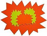 Agipa - Etiquetas de precio para punto de venta (cartulina, 8 x 12 cm, 50 unidades), diseño de estallido, color amarillo
