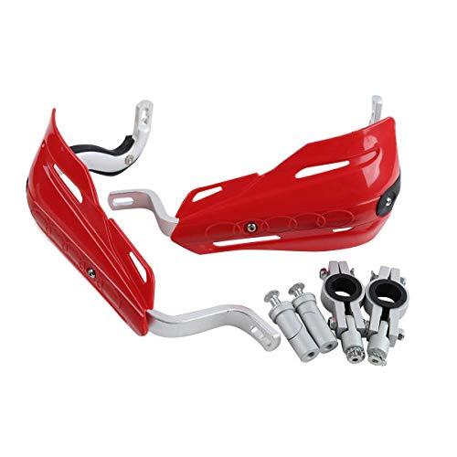 TCMT Red Universal 7/8' 22mm Handlebar Hand Brush Guard Handguards Fits For Honda Kawasaki Yamaha Suzuki Dirt Bike ATVs MX