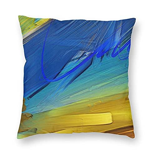 Funda de almohada de poliéster para decoración del hogar, resistente a las manchas impresas, para sala de estar, sofá, camping, coche