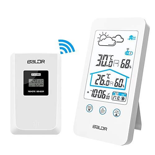 ZILI Station météo sans Fil, Thermomètre numérique intérieur sans Fil pour intérieur...