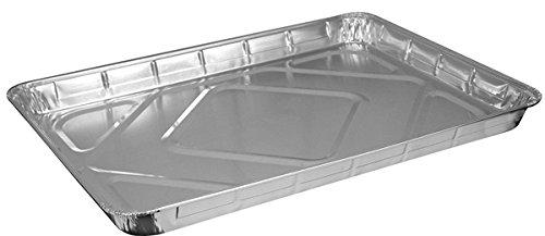 HFA 2063, Half-Size Aluminum Foil Baking Sheet Cake Pans, Take Out Baking Disposable Foil Containers (100)
