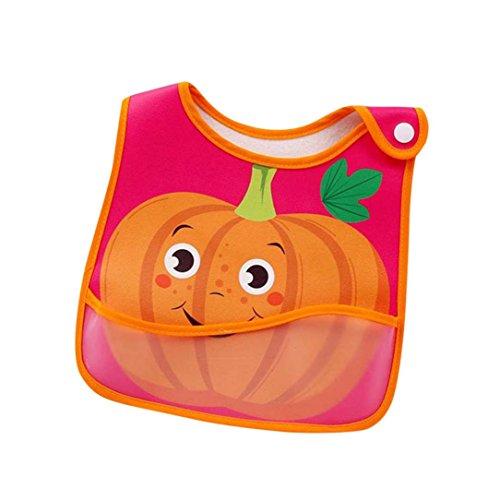 Longra babyslabbetjes, voor jongens en meisjes, schort, cartoon, fruit, bedrukt, comfortabel, zacht, ter bescherming van kleding G