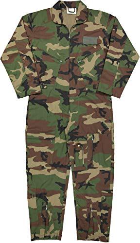 Army Universe Air Force Flight Suits, US Military Type Coveralls, Uniform Overalls/Jumpsuits Pin (Camouflage, 3X-Large)