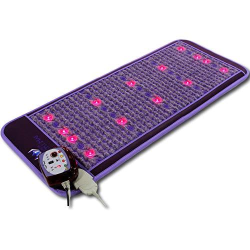 Ereada Infrared Amethyst Mat - Purple 60'L x 24'W (150x60 cm) - 86-158°F (30-70°C) FIR Heating Pad...