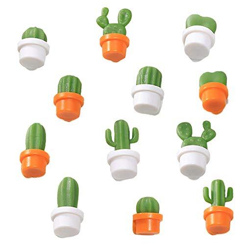 12 Pezzi Cactus Fridge Magnets, Mini Calamita da frigo, Carino Cactus Frigo Magnetici, Cactus Pianta grassa Magnet Magneti, Casa Decorazione Frigorifero Adesivi per Office Armadi lavagne