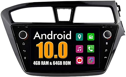 LINGJIE GPS Navigation Stereo für Hyundai I20 2015 Android System Auto DVD Radio Bluetooth USB Mirror Link mit Multimedia Autoradio,4G WiFi 4G+64G