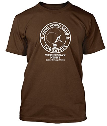 Darkness Ping Pong FRIDAY NIGHT Permission to Land T-shirt, Herren, Medium, Kaffeebraun