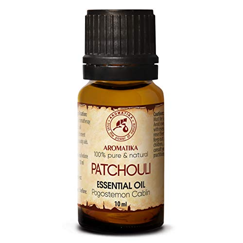 Patchouli Öl 100% Naturreines Ätherisches 10ml - Pogostemon Cablin - Indonesia - Reine & Natürliche Patchouliöl - Guten für Beauty - Aromatherapie - Spa - Aroma Diffuser - Duftlampe - Aroma