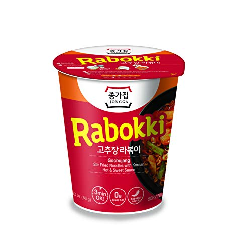 Jongga Rabokki - Koreanische Instant-Nudeln - Gochujang scharf-süß 82 g (24 PACK)