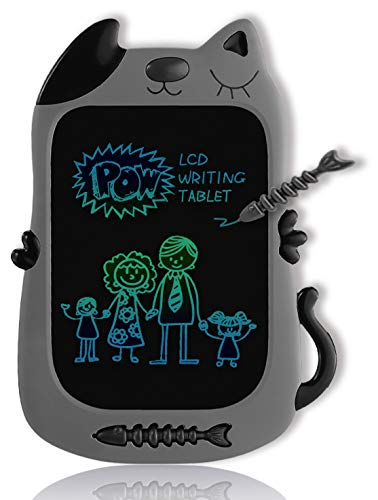 GJZZ LCD Drawing Doodle Board for 3-7 Year Old Girls Gifts,Writing and Learning Scribble Board for Little Kids - Gray Black