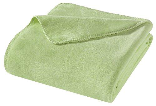 WOHNWOHL Kuscheldecke 150x200cm • weiche Tagesdecke • Sofadecke • Wohndecke • Schlafdecke • Ökotex Zertifizierte Baumwolldecke • Farbe: Grün