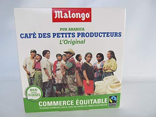 Malongo PUR 100% ARABICA Kaffee 16 Pads FAIRTRADE Die 123 Spresso Pads