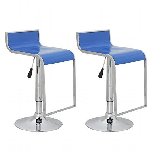 Furnituredeals taburetes Cocina o Bar Tulsa diseño plástico ABS, 2, Azul.Tagen taburetes de Bar (stilesclusivo Hanno un Aspecto Moderno y Soy Apto a Todas Las Alturas de banchi y Bar.